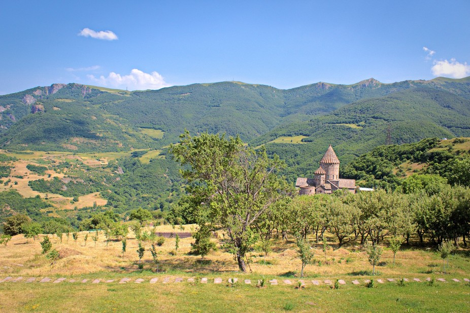 Tatev Monastery in Armenia. Telecabin is needed to get there. amazing view. Raw image was taken t...