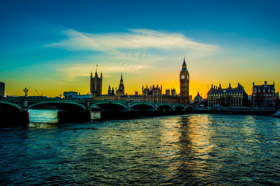 Sunset over the Iconic Big Ben