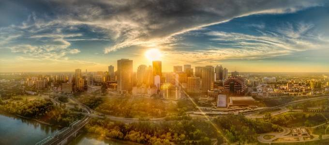 edmonton sunset by newelly - Sunset In The City Photo Contest