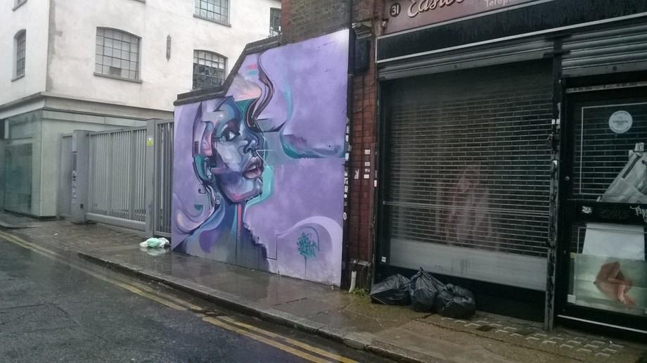 Walking down the backstreets of London