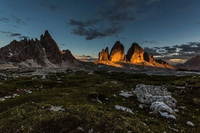 Last light at the Tre Cime di Lavaredo by jamesrushforth