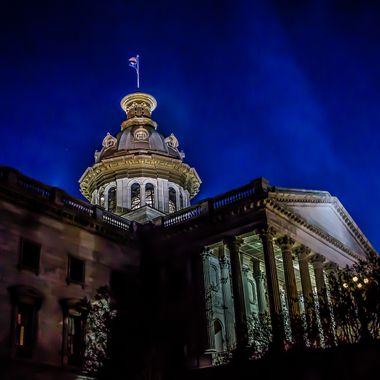South Carolina State House at night
