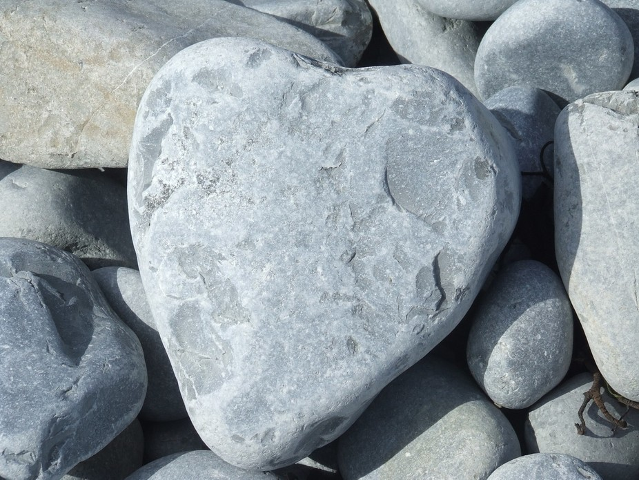 Found this heart rock on East Aberthaw beach