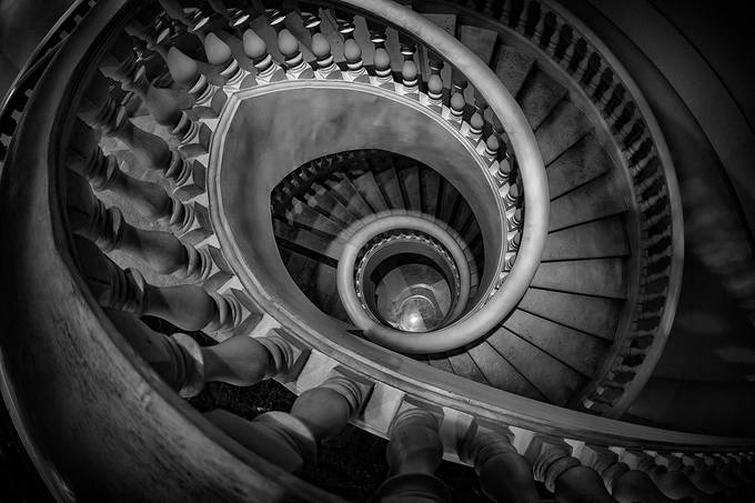 Spiral Staircase by jacobslbchong - Black And White Wow Factor Photo Contest