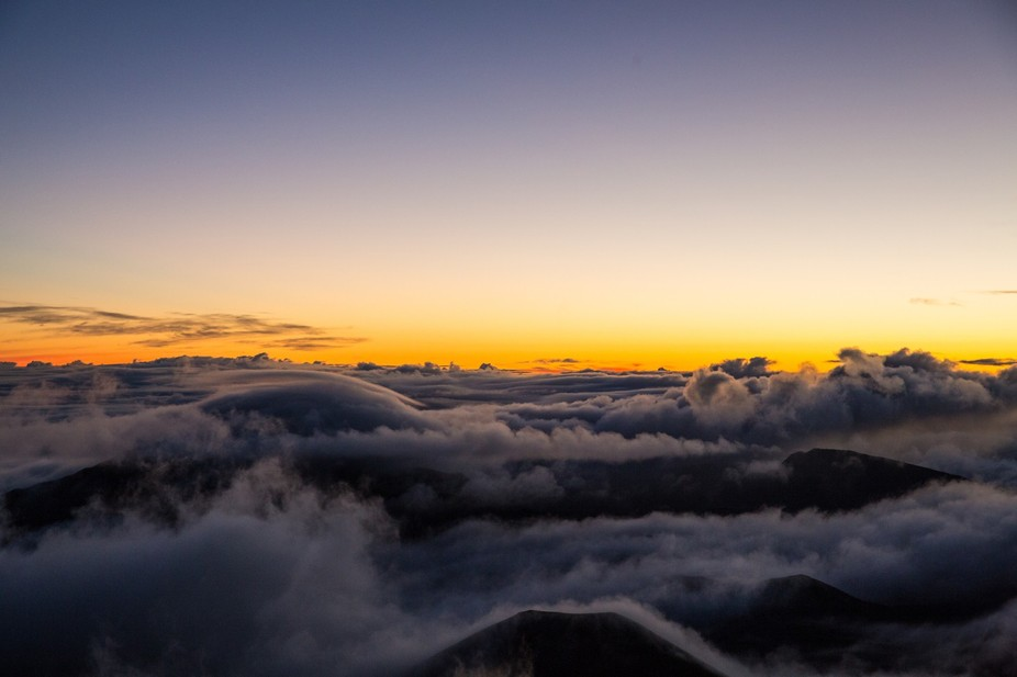 Sunrise at Mt. Haleakala.