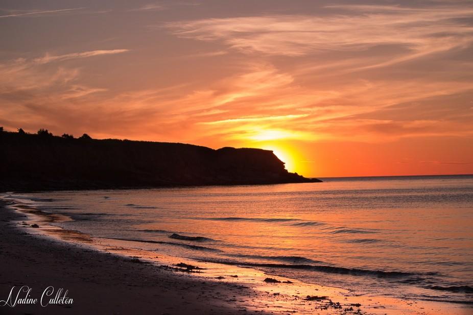 evening shot of a beach on beautiful PEI