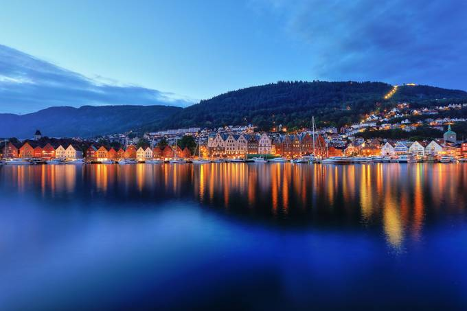 Evening in Bergen by Deep13 - Photogenic Villages Photo Contest