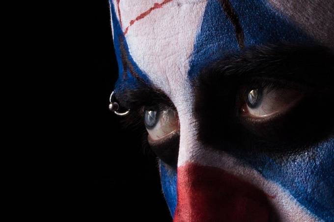 Eyes of the Clown.  by antonybarbour - Paint And Makeup Photo Contest