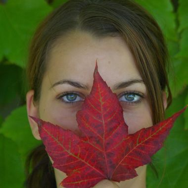 All Canadian Girl - in British Columbia - Maple Leaf and Amazing Eyes!