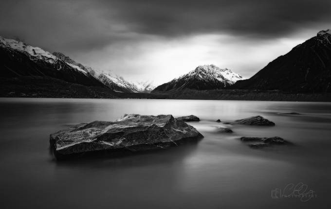 MOODY SUNRISE by benzcatbagan - Winter In Black And White Photo Contest