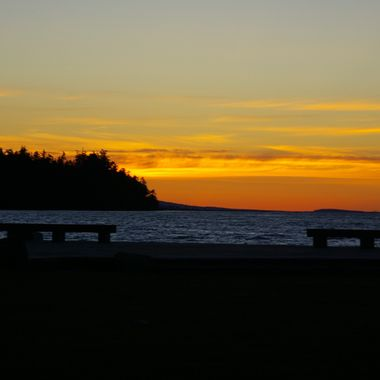 Benches in Parksville Park to enjoy sunsets just like this one :)