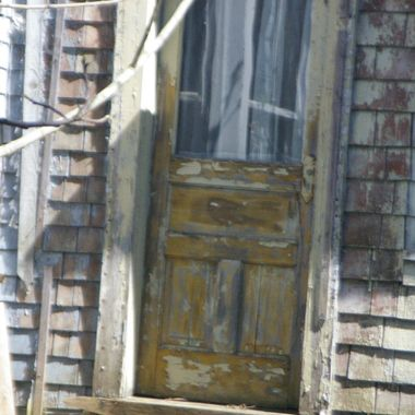 OLD DOOR ON CONDEMNED HOME