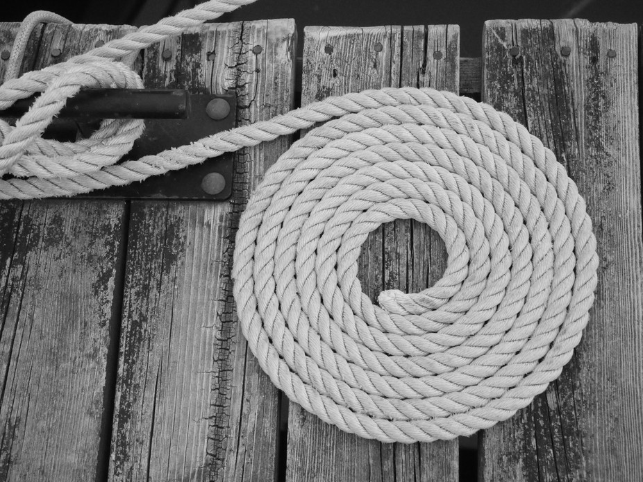Coiled Rope was taken by Patricia Maureen Photography - P.M.P on the fishing boat dock on Lake Su...