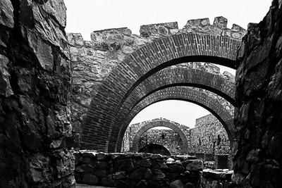 Castle ruins. La mancha. Spain.