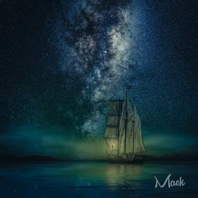 3 image composite. Ship shot at 200mm and the Milky Way at 24mm.