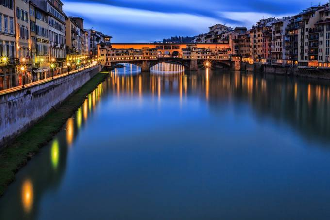 Ponte Vecchio Reflection by kenrhodes - Classical Architecture Photo Contest