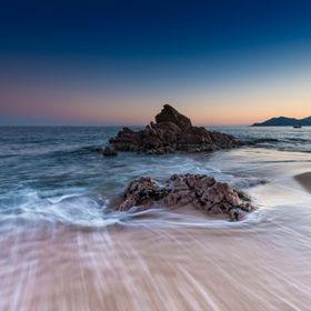 Blue hour on the rocks