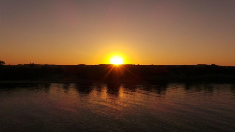 Sun set from Nile
