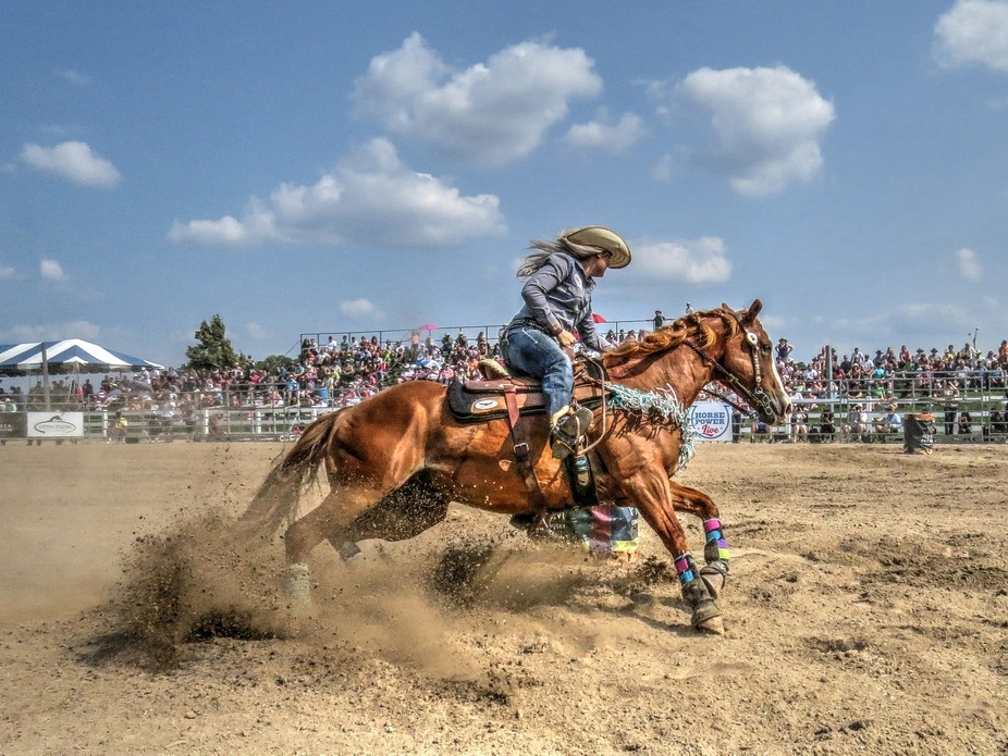 We went to a rodeo today and had a blast. This shot is hand held taken in manual with the followi...