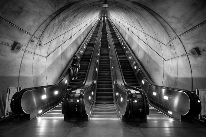 Metro Deep by Kevin_Miller - Metro Stations Photo Contest