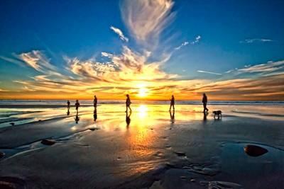 Family Sunset Walk