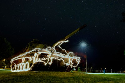M60 Patton Tank And The Shimmering Stars