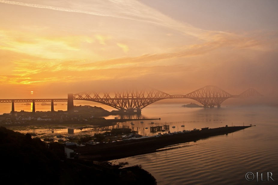 Sunrise over the Forth bridges