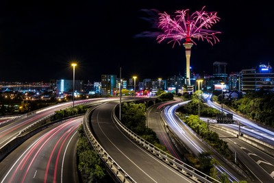 Auckland Sky Tower and Spaghetti Junction