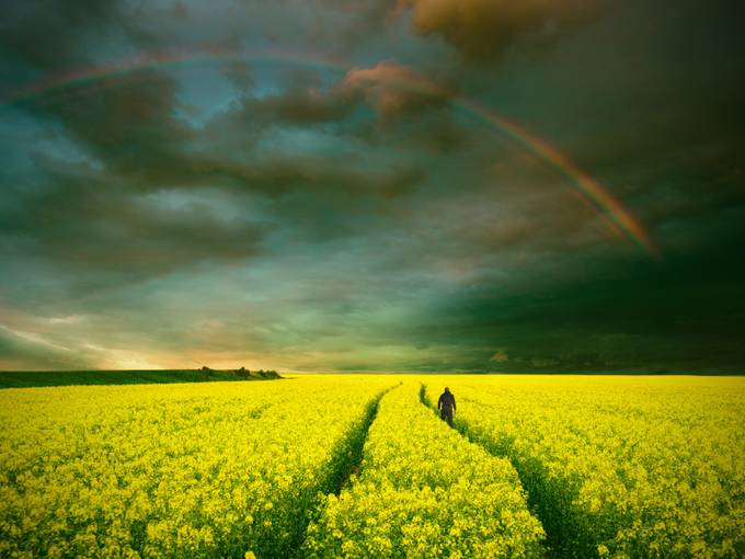 endless emotions by tadejturk - Rainbows Overhead Photo Contest