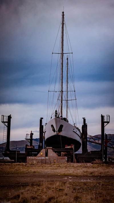 In dry dock