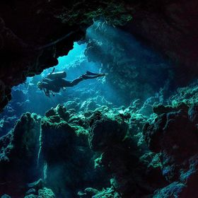 Diving in the caves of St Johns (Red Sea, Egypt)