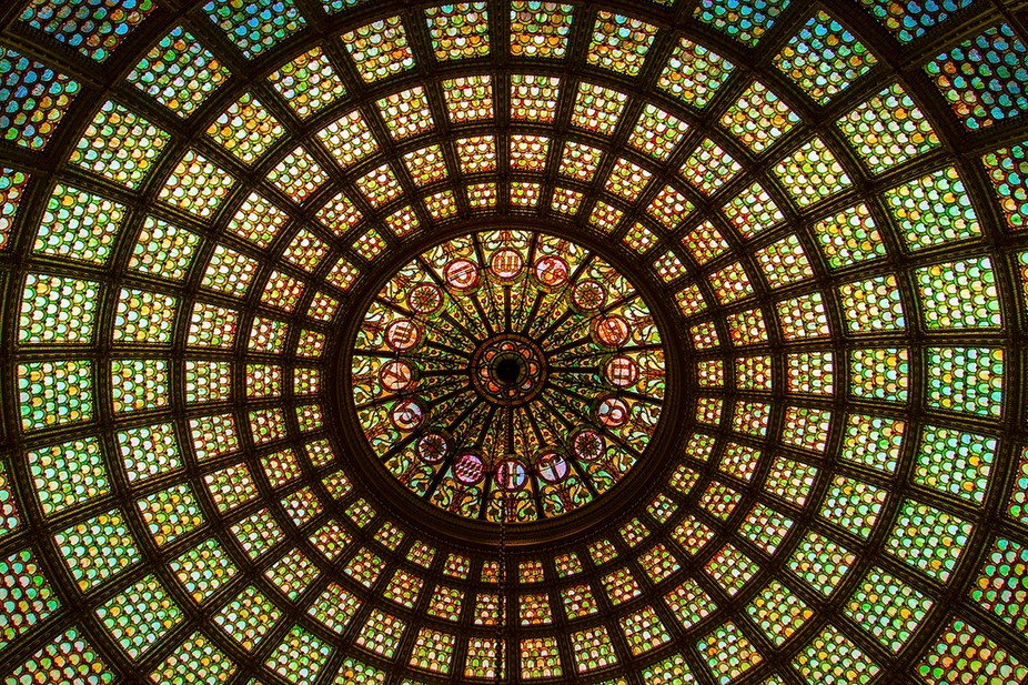 Title: The Tiffany Dome Shot Taken From: The Chicago Cultural Center, 78 E Washington St Chicago,...