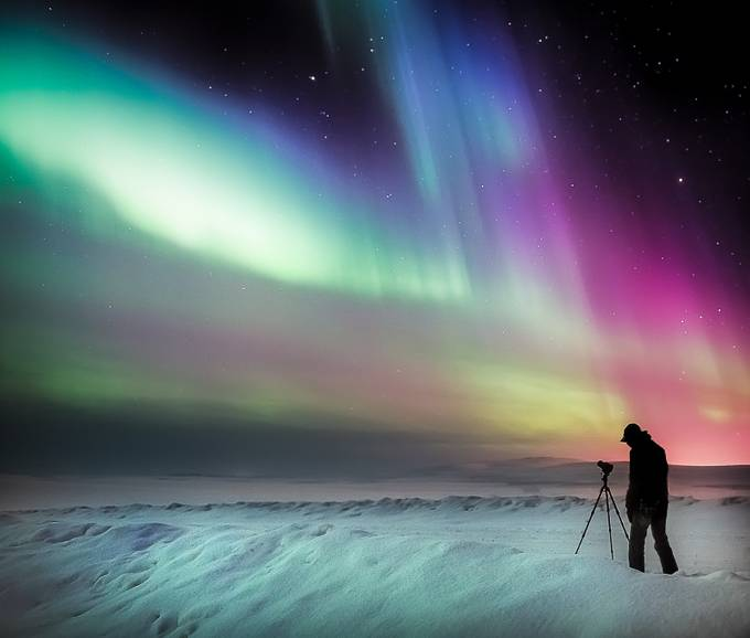 Chasing Cosmic Light by AMills - Colorful And Bright Photo Contest