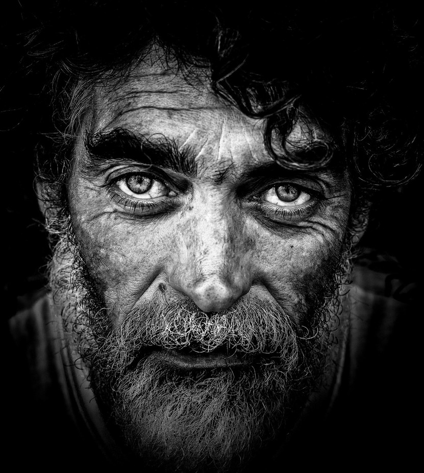 Street portrait by vascotrancoso high contrast in black and white photo contest