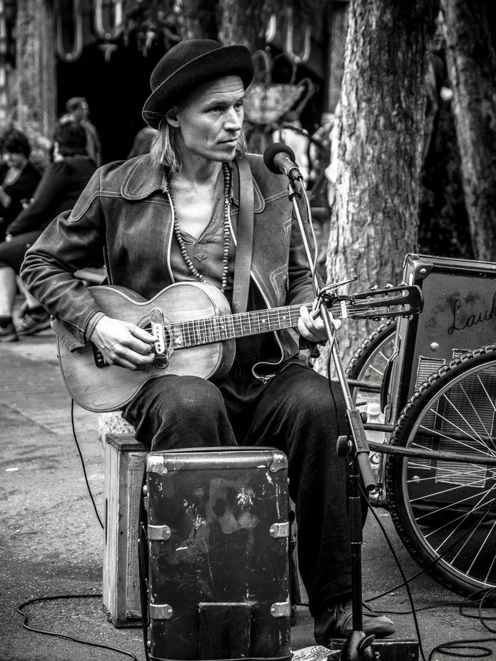 Young Man and Old Guitar by JaniKarlsson - Awesomeness In Black And White Photo Contest