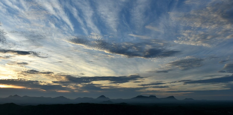 early morning shot from view of Makali Durga (Karnataka, India). Went on a trek just to take this...