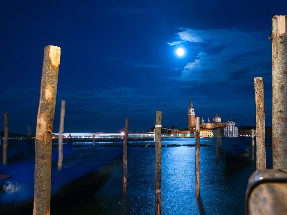 Full Moon And Venice