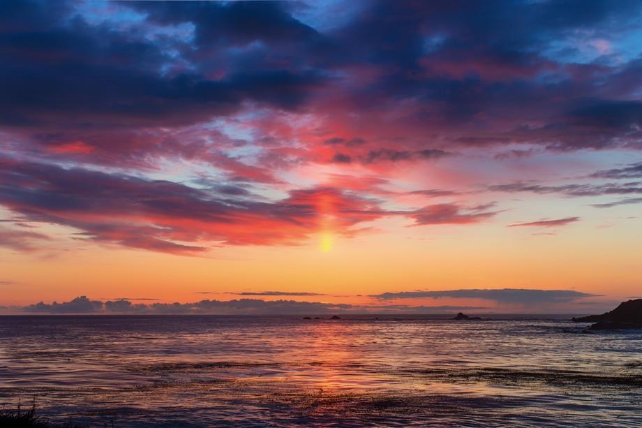 A magnificent sunset taken of Pt. Lobos near Carmel, Ca.