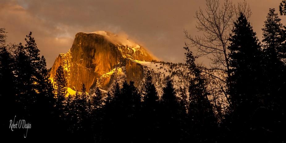 Summer clouds in Yosemite.