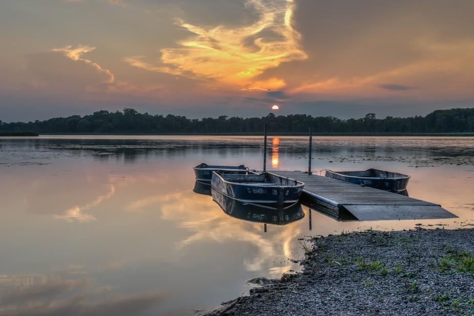 The last glimpse of the sun before it feel beneath the horizon.
