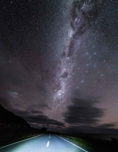 Palliser night Road to the Milky Way