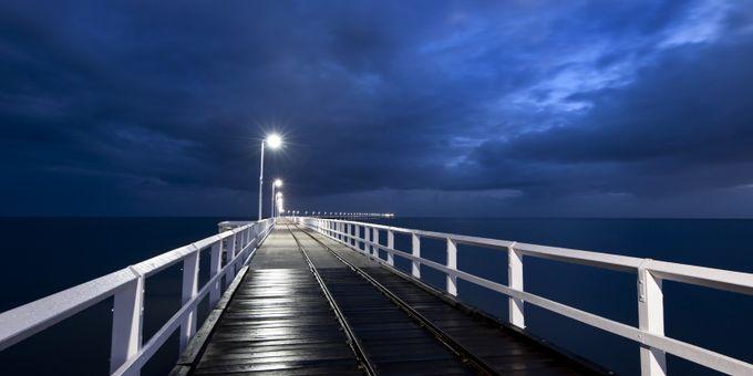 Blue Jetty by 14renren - Boardwalks Photo Contest