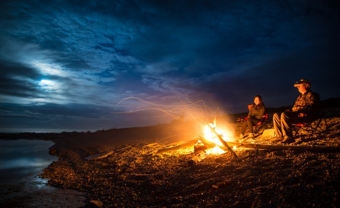 Oceanside Campfire by jameswheeler - The Four Elements Photo Contest