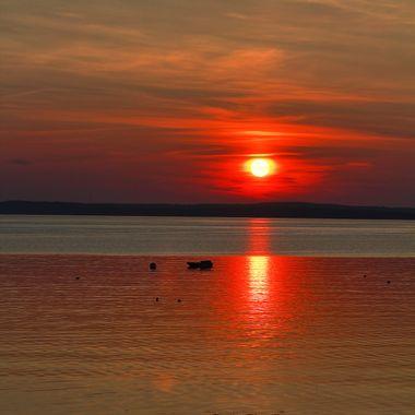 Sunrise over Frenchman Bay, Maine