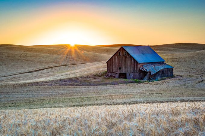 Spangle Barn at Sunrise by markaament - Farms And Barns Photo Contest
