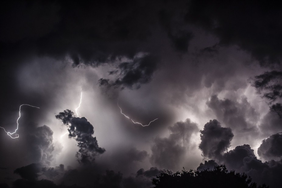 I got stuck in a severe storm in my car and passed the time by taking photos.