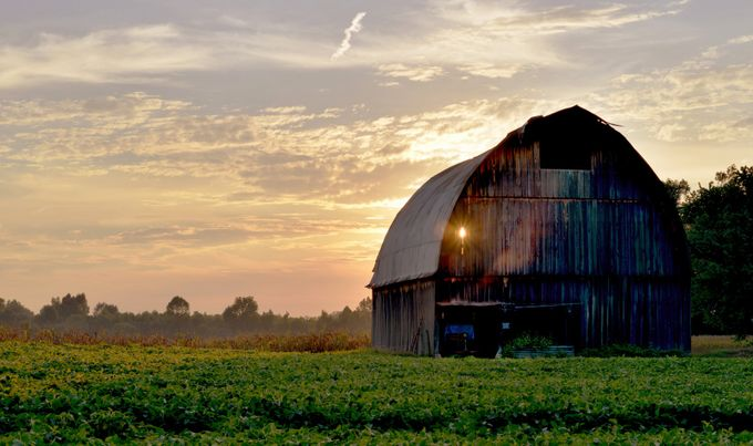 Light Leaky Barn by CappyKev - Farming Photo Contest