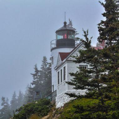 Bass Harbor Light on Maine's Mount Desert Island, home of Acadia National Park