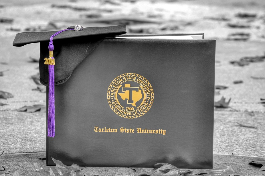My sisters diploma from her graduation from Tarleton State University last May. I learned some ne...