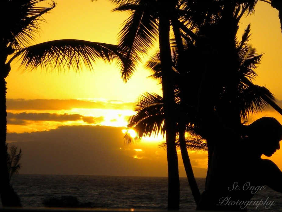 This was taken in Maui .it is one of my all time favorite sunset pictures